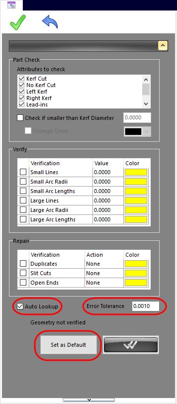 CAD verify geometry